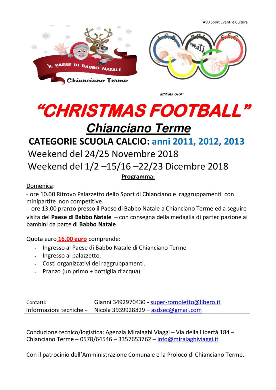 Christmas Football 2018 2 giorni